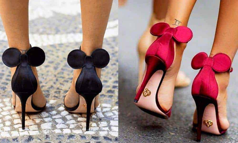 Minnie mouse high heels