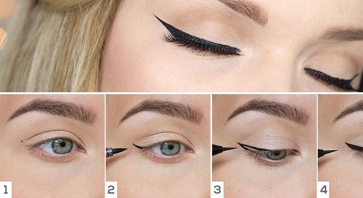 Step By Step Winged Eyeliner Tutorial Trend Crown