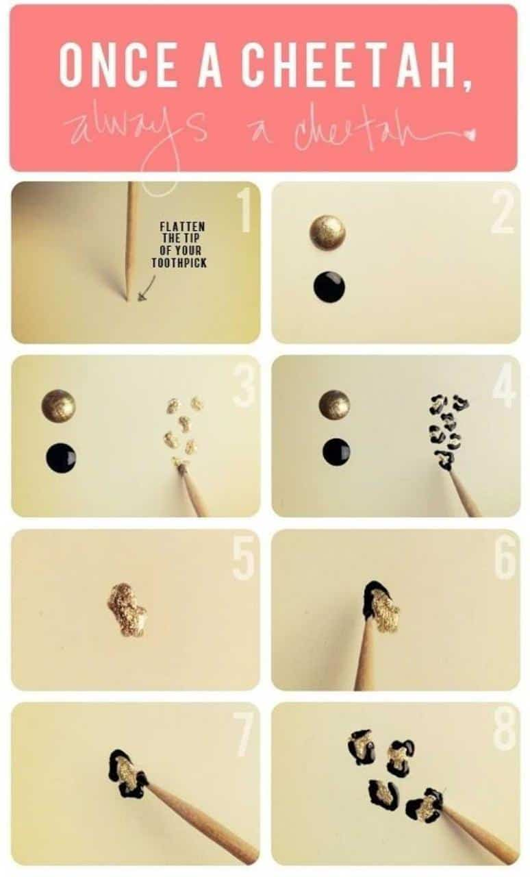 using toothpick for nail art