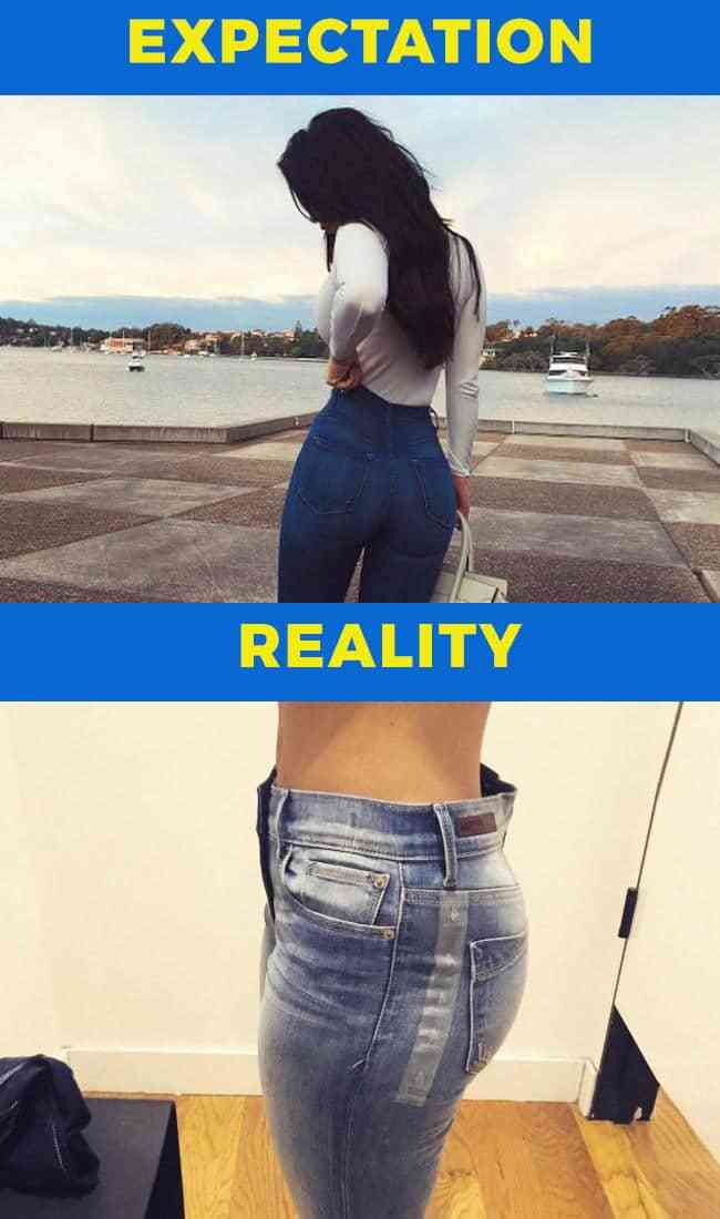 Fashion expectation vs reality