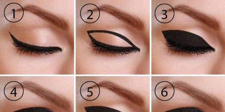 How to draw thick cat eyeliner