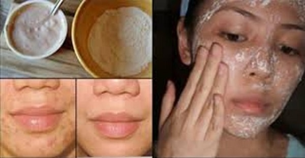 Natural face mask to remove wrinkles and scars