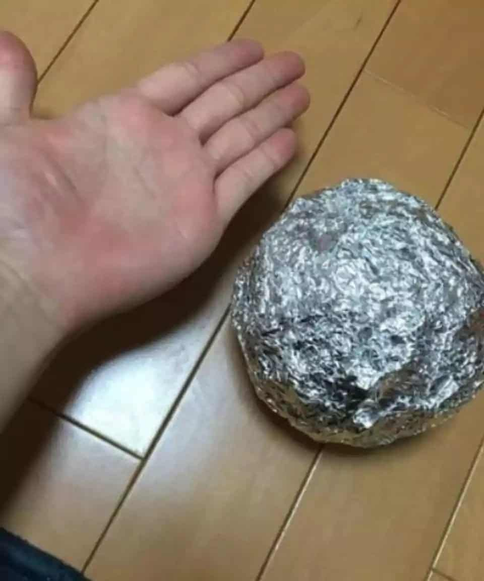 Polished Aluminium foil ball