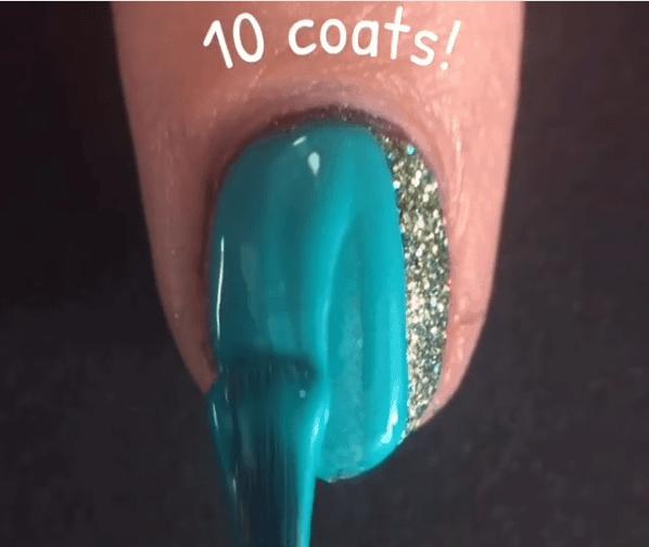 Nail Polish Mountain With 100 Coats