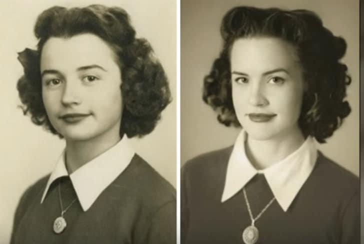 Some Recreated Photos From The Old Days That Connect Grandchildren  With Their Family's History