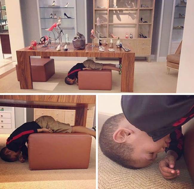 Pictures that prove kids can sleep anywhere